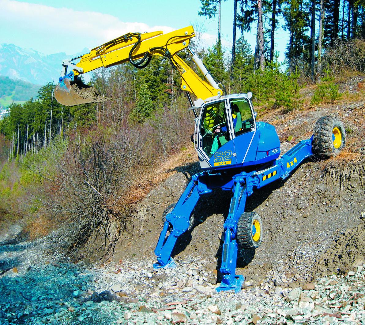 Шагающие экскаваторы для работы на склонах